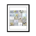White Photography Collage Framed Panel Print