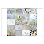 White Photography Collage Large Poster