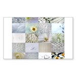 White Photography Collage Sticker (Rectangle)