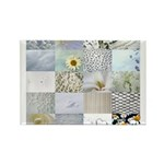 White Photography Collage Rectangle Magnet (100 pa