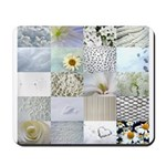 White Photography Collage Mousepad