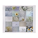 White Photography Collage Throw Blanket
