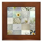 White Photography Collage Framed Tile