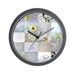 White Photography Collage Wall Clock