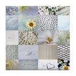 White Photography Collage Tile Coaster