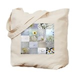 White Photography Collage Tote Bag