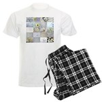 White Photography Collage Men's Light Pajamas