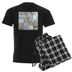White Photography Collage Men's Dark Pajamas