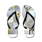 White Photography Collage Flip Flops
