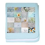 White Photography Collage baby blanket