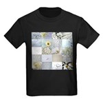 White Photography Collage Kids Dark T-Shirt