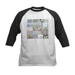 White Photography Collage Kids Baseball Jersey