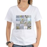 White Photography Collage Women's V-Neck T-Shirt