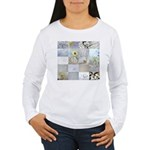 White Photography Collage Women's Long Sleeve T-Sh