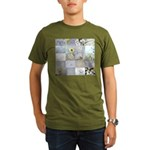 White Photography Collage Organic Men's T-Shirt (d
