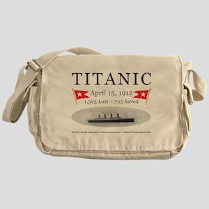 Titanic Ghost Ship (white) Khaki Messenger Bag