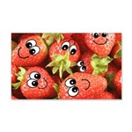 Cute Happy Strawberries 22x14 Wall Peel