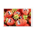 Cute Happy Strawberries Car Magnet 20 x 12