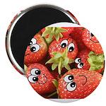 Cute Happy Strawberries Magnet