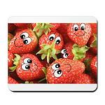 Cute Happy Strawberries Mousepad