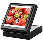 Cute Happy Strawberries Keepsake Box