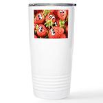 Cute Happy Strawberries Stainless Steel Travel Mug