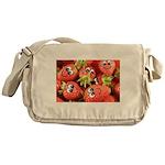 Cute Happy Strawberries Messenger Bag