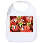 Cute Happy Strawberries Bib