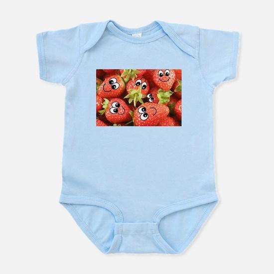 Cute Happy Strawberries Infant Bodysuit