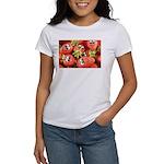 Cute Happy Strawberries Women's T-Shirt