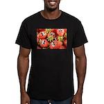 Cute Happy Strawberries Men's Fitted T-Shirt (dark