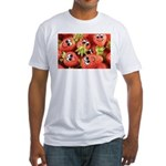 Cute Happy Strawberries Fitted T-Shirt