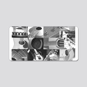 Stylish Guitar Photo Collage Aluminum License Plat