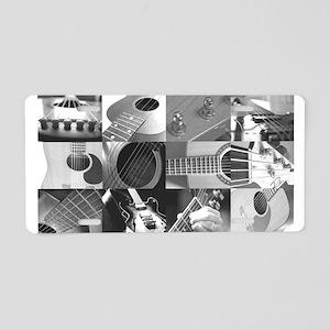 Stylish Guitar Photo Collage Aluminum License Plat