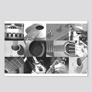 Stylish Guitar Photo Collage Postcards (Package of