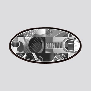 Stylish Guitar Photo Collage Patches