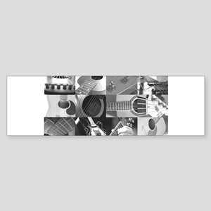 Stylish Guitar Photo Collage Sticker (Bumper)