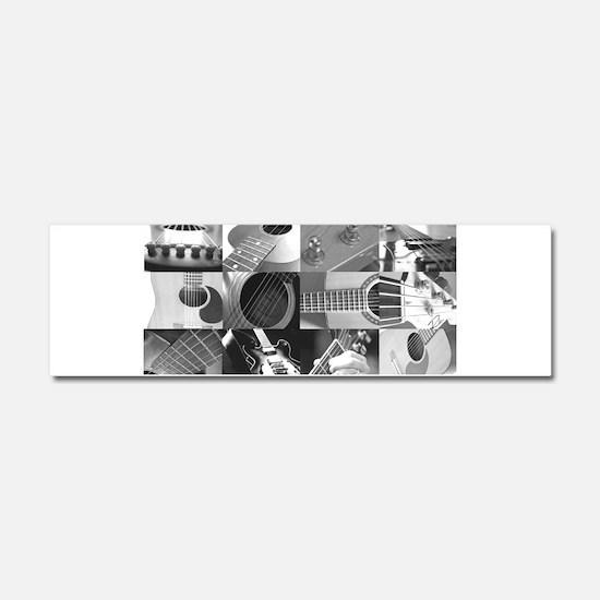 Stylish Guitar Photo Collage Car Magnet 10 x 3