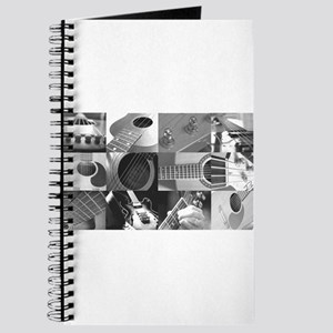 Stylish Guitar Photo Collage Journal