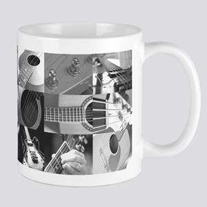 Stylish Guitar Photo Collage Mug