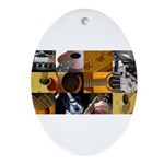Guitar Photography Collage Ornament (Oval)