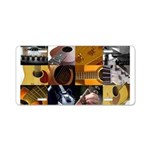 Guitar Photography Collage Aluminum License Plate