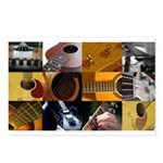 Guitar Photography Collage Postcards (Package of 8
