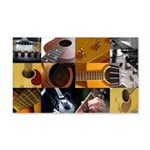 Guitar Photography Collage 22x14 Wall Peel
