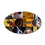 Guitar Photography Collage 38.5 x 24.5 Oval Wall P