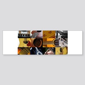 Guitar Photography Collage Sticker (Bumper)