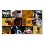 Guitar Photography Collage Sticker (Rectangle)