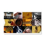 Guitar Photography Collage Car Magnet 20 x 12