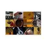 Guitar Photography Collage Rectangle Magnet (10 pa