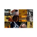 Guitar Photography Collage Rectangle Magnet